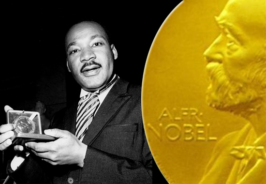 King become the second black person to win a Nobel Peace Prize one year later.