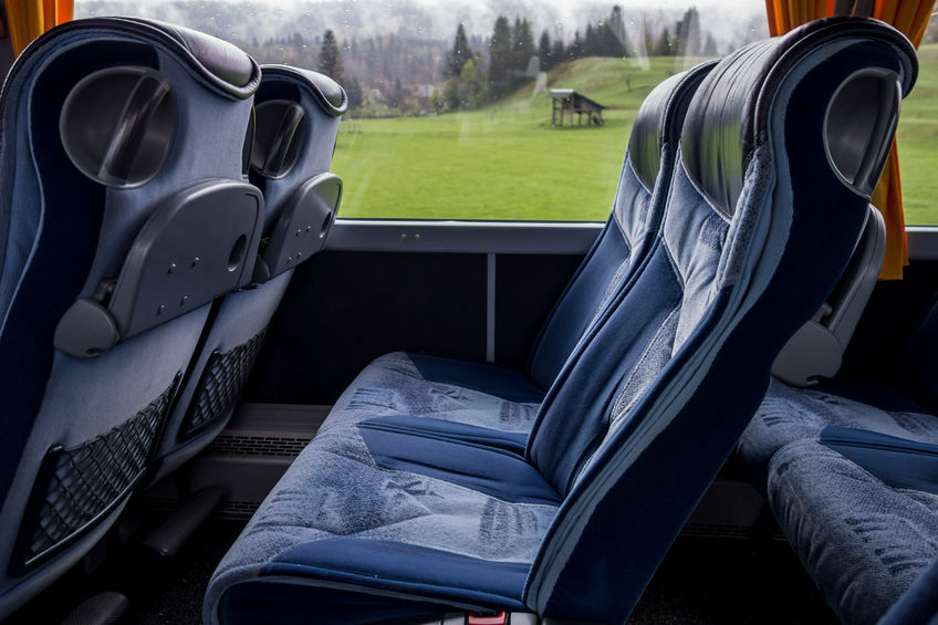 61712116 - blue comfortable seats in a luxury bus