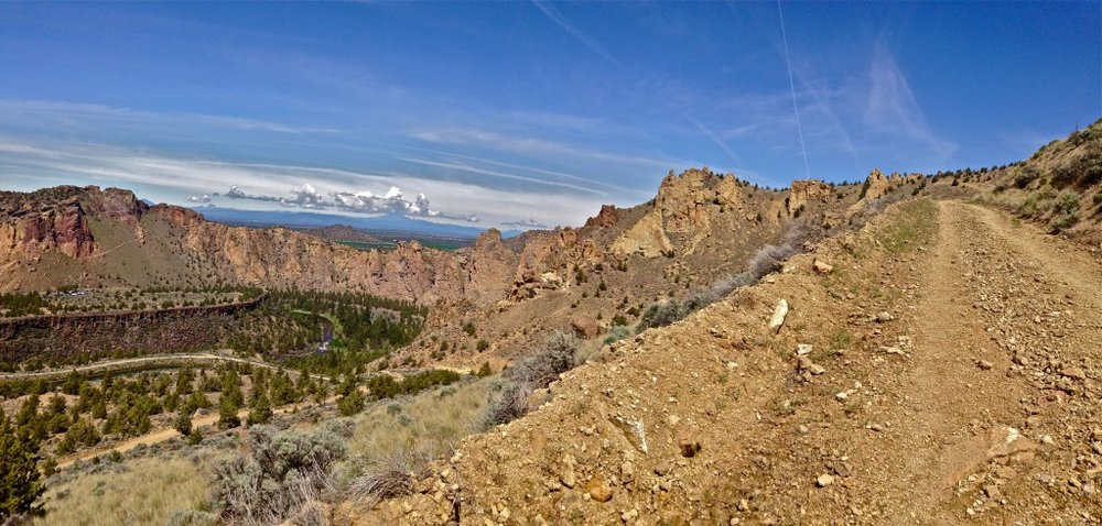 Burma Road Trail at Smith Rock State Park vista