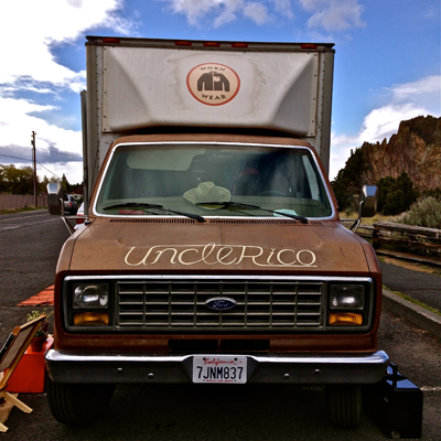 Patagonia Worn Wear Tour Truck Uncle Rico at Smith Rock State Park