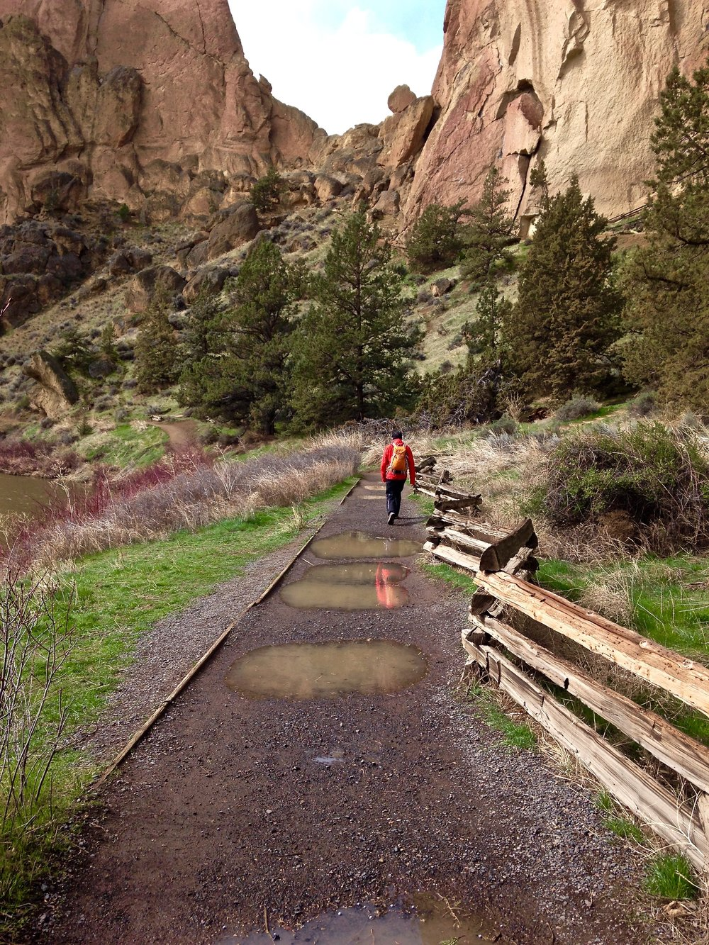 puddles on the River Trail Smith Rock State Park