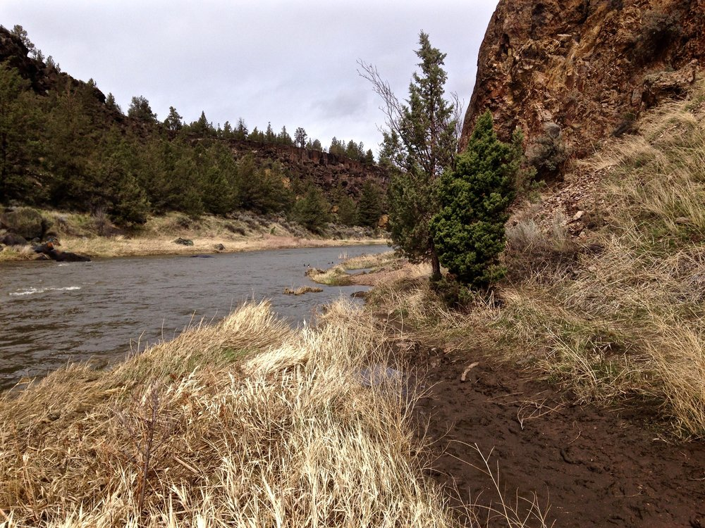 long view washed out River Trail at Smith Rock State Park