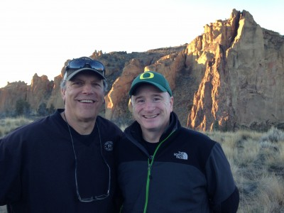 Oregon State Lottery Officials at TV shoot in Smith Rock State Park