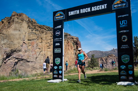 Smith Rock Ascent Finish banner at Smith Rock State Park