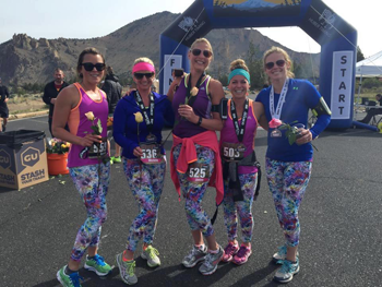 Moms at Smith Rock Road Half Marathon & 10K Race at Smith Rock State Park