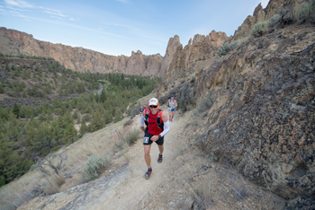 Runner at Smith Rock State Park