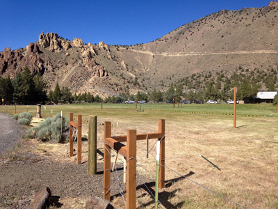 overflow parking lot for Smith Rock State Park