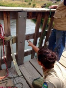 Smith Rock Bridge repair area needed new slats