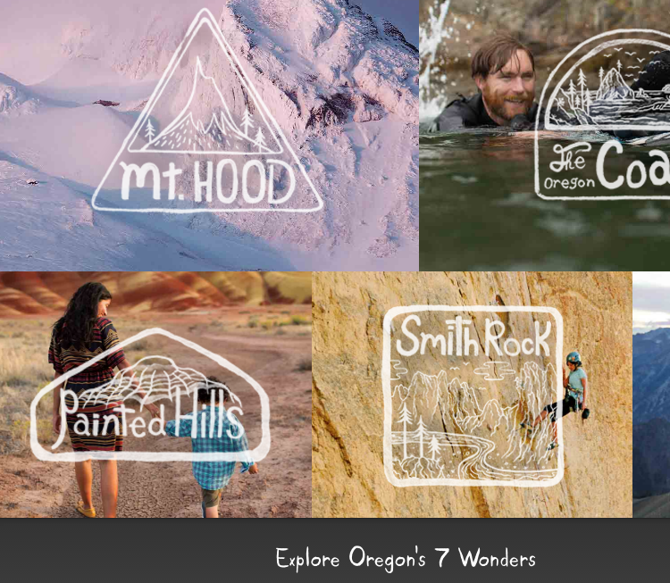 "Recent Travel Oregon ""7 Wonders"" campaign"