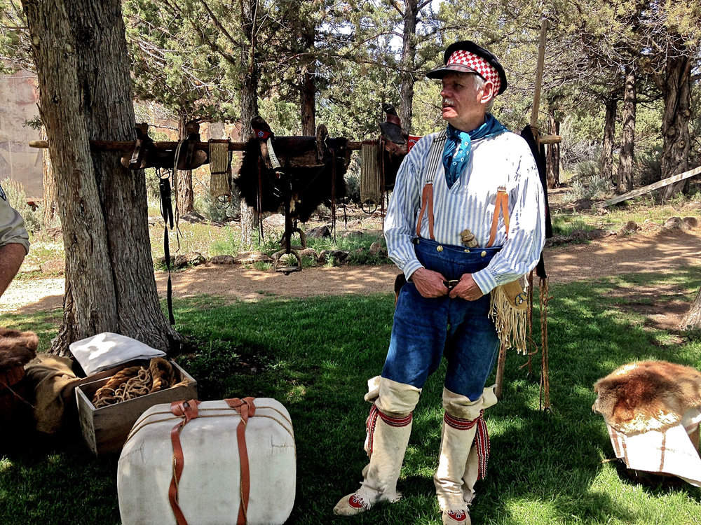 trapper reenactor at Smith Rock State Park