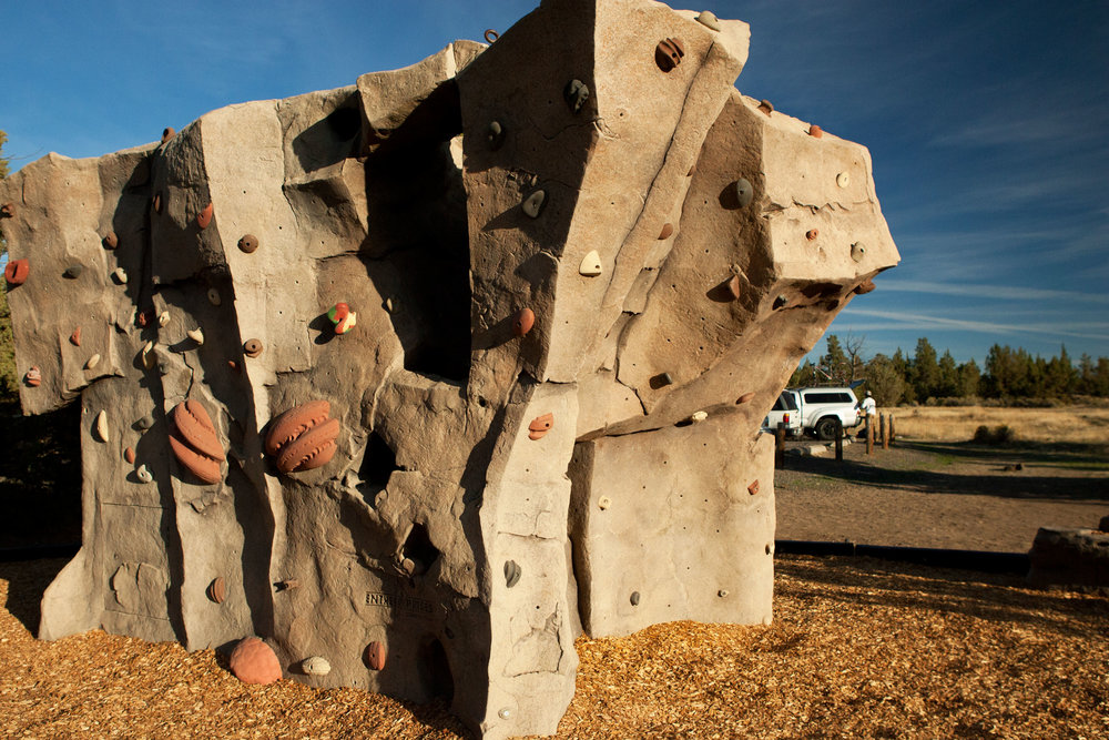 climbing wall at the Bivy campground at Smith Rock State Park