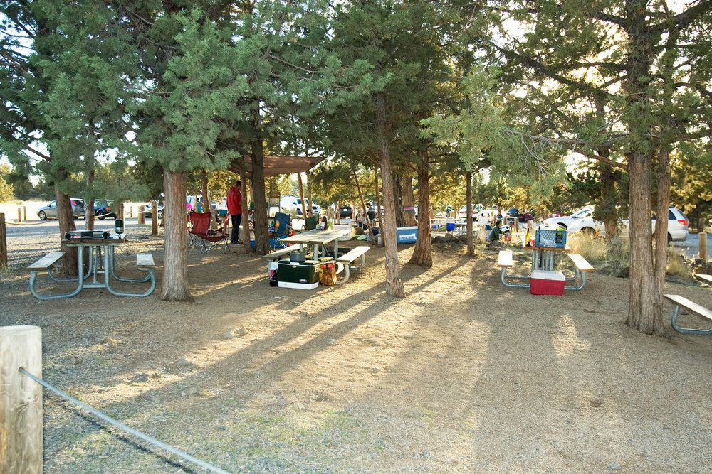 designated common area for cooking at the Bivy campground at Smith Rock State Park