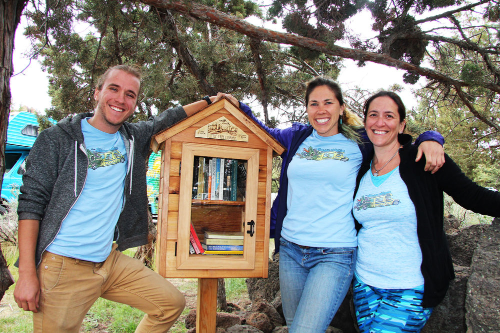 the  Smith Rock Little Free Library  at the Bivy Campground at Smith Rock State Park