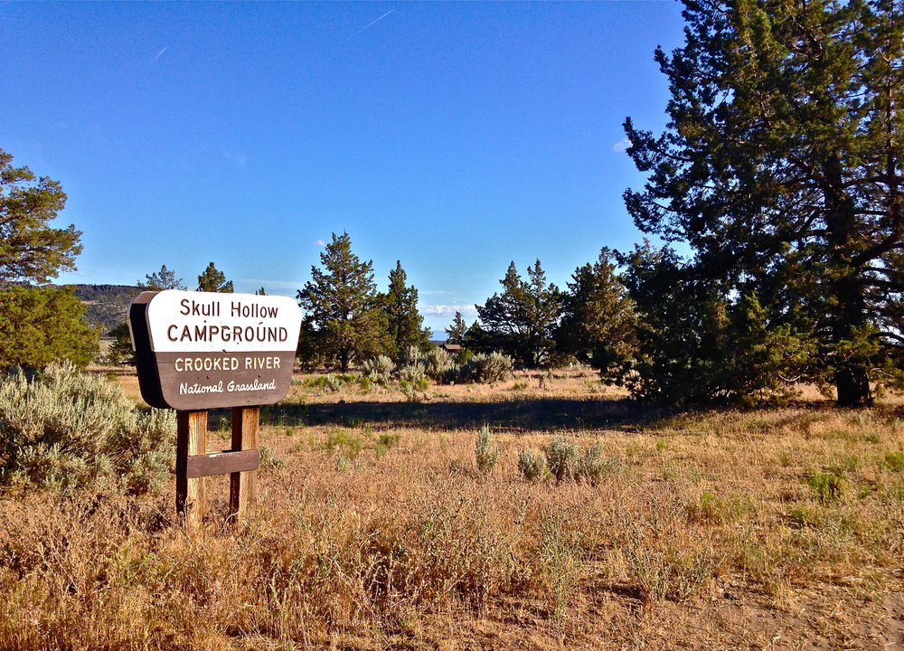 entrance to Skull Hollow Campground