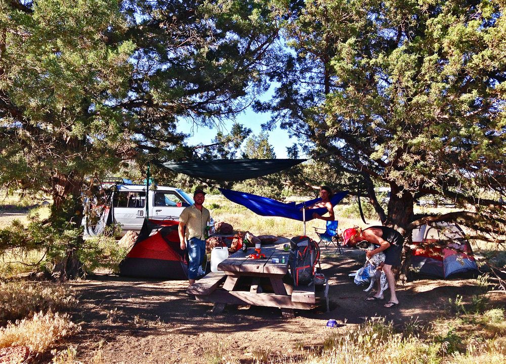 typical single campsite at Skull Hollow Campground