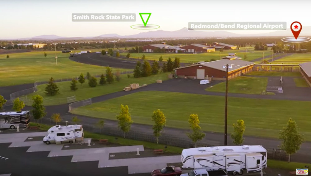 Expo Center RV Park courtesy of Deschutes County Fairgrounds Expo Center