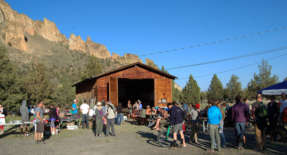 Smith Rock Spring Thing volunteer dinner and raffle