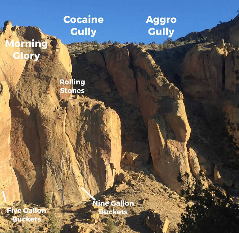Sample orientation image: Smith Rock OR, courtesy of Climb-On Maps