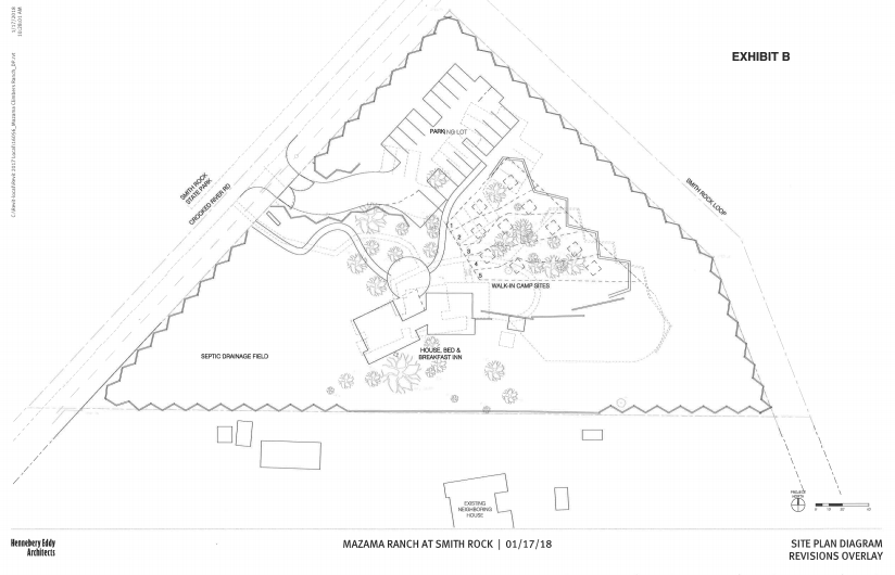 SITE PLAN DIAGRAM REVISIONS OVERLAY