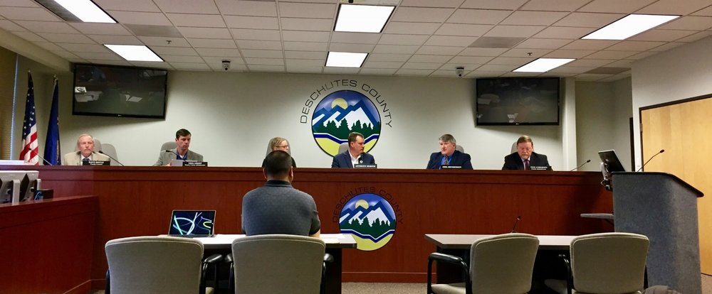 The Deschutes County Board of Commissioners deliberates the final appeal of the Mazama Ranch B&B and Campground
