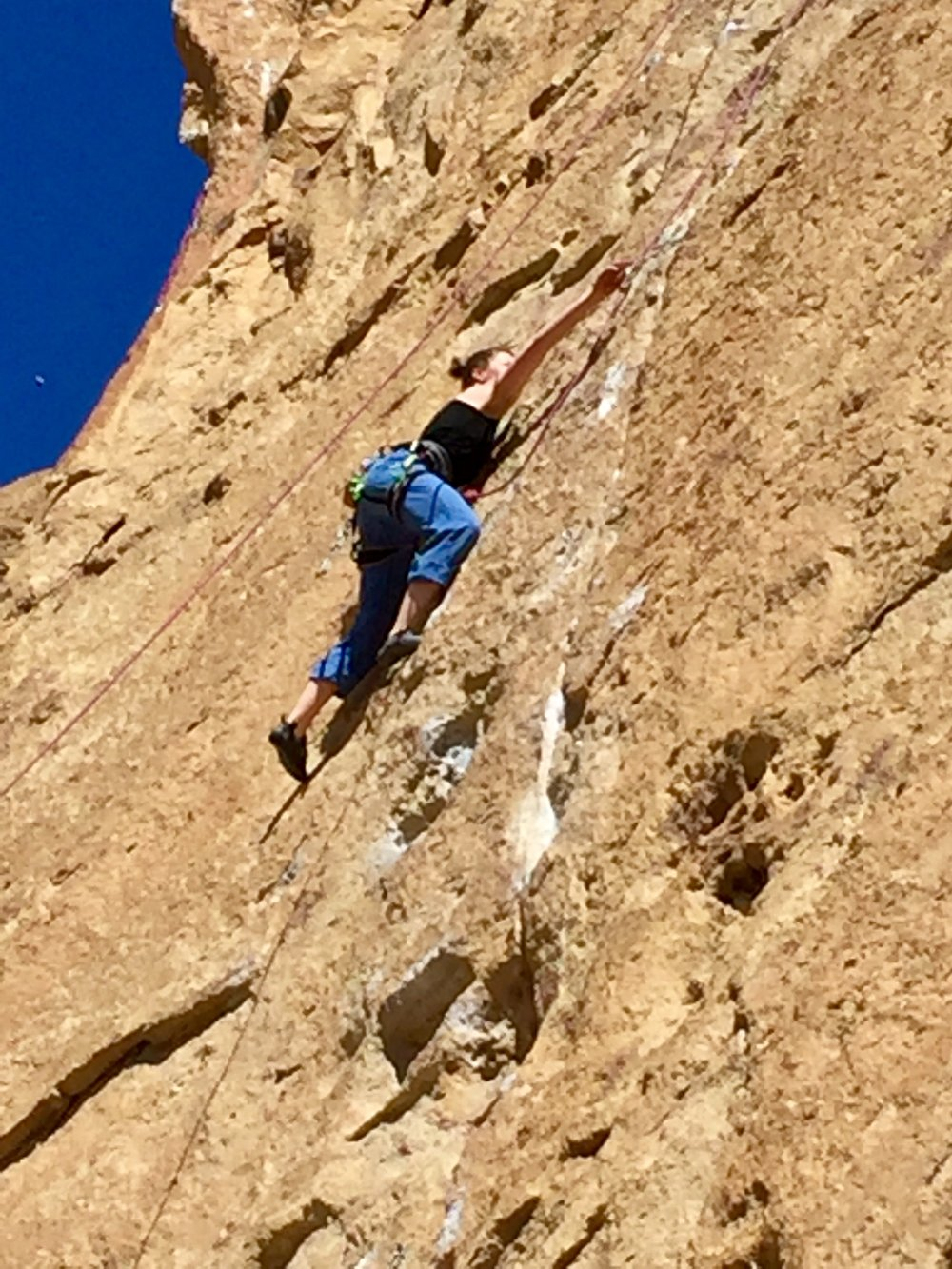 woman climber in Dihedrals