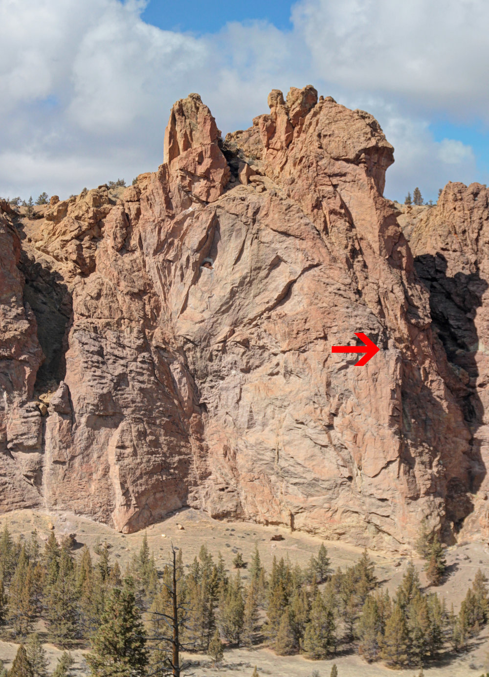 Golden eagle nest location overview on Little Three Fingered Jack. Photo courtesy of Steve Lay.