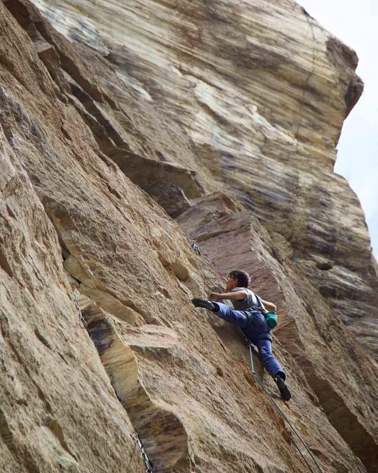 Alex Reed sending Capacity Tenacity 12c, First Ascent