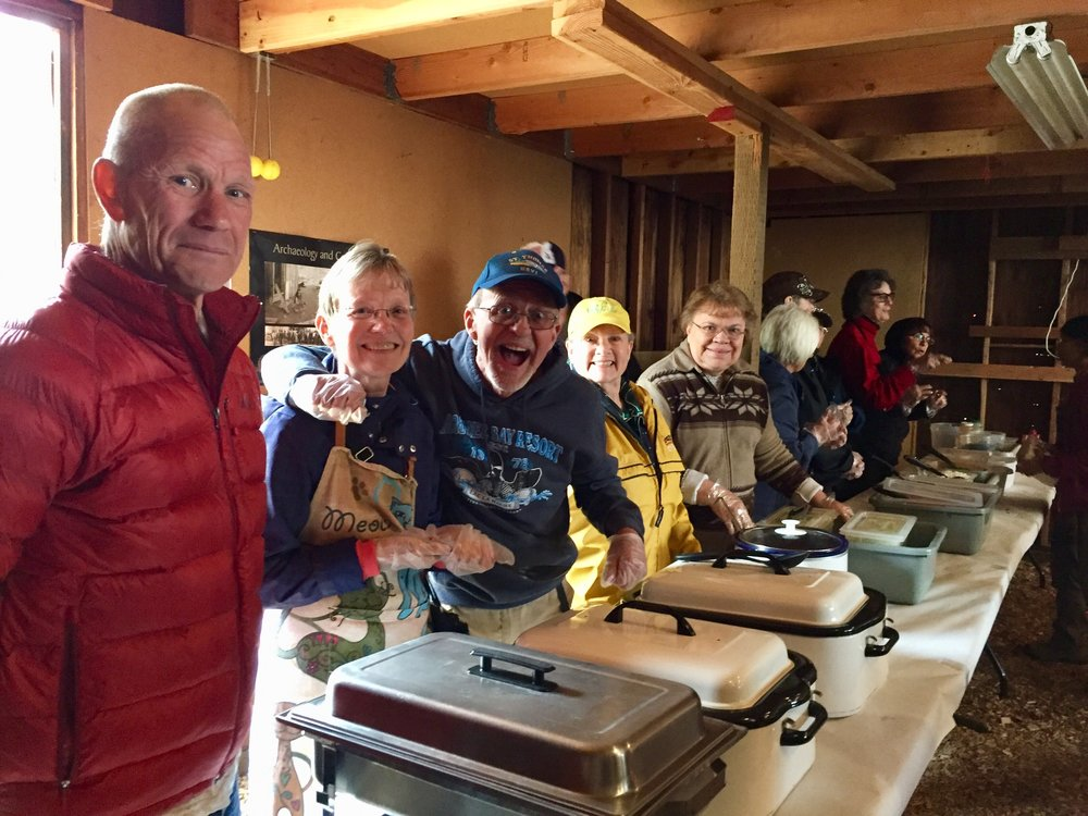 A local church group volunteered to serve up the meal.