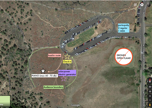 Location of the Smith Rock performance.