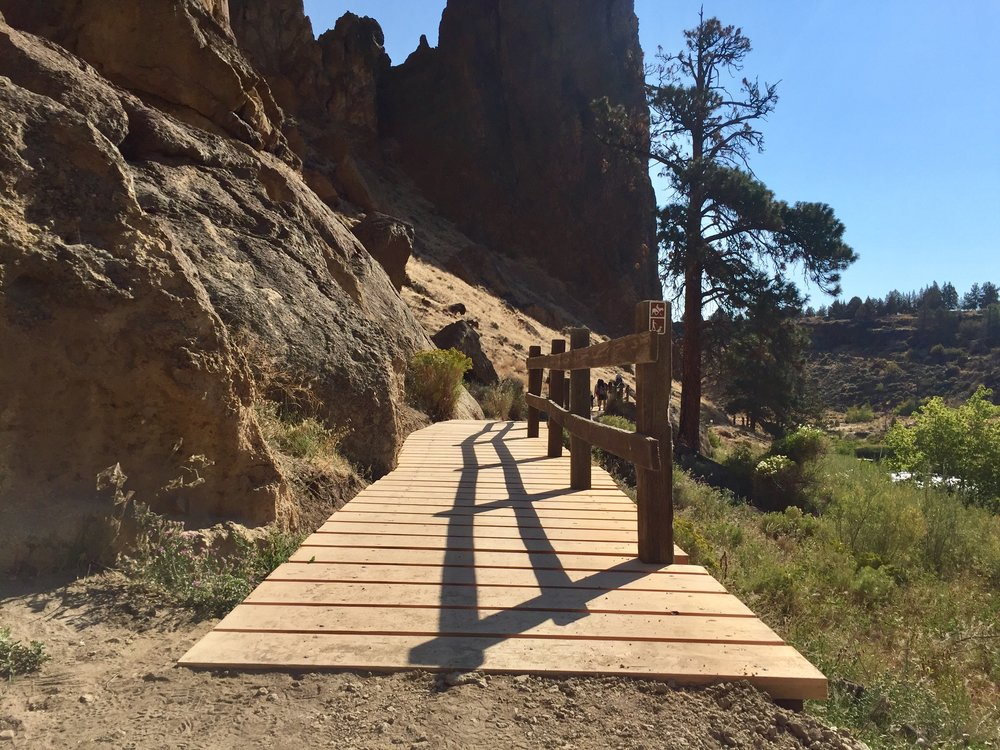 another completed board walk at Smith Rock State Park