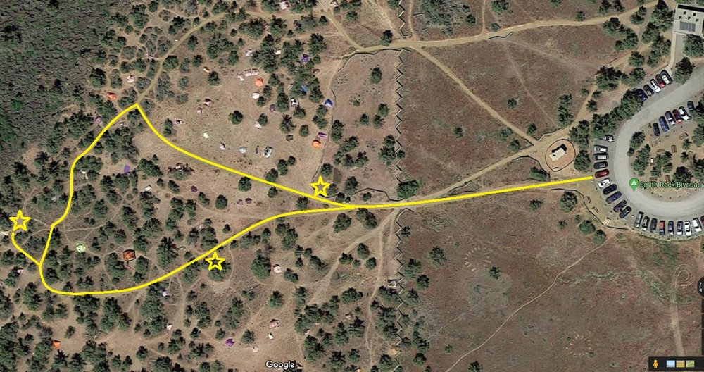 map of ADA campsites