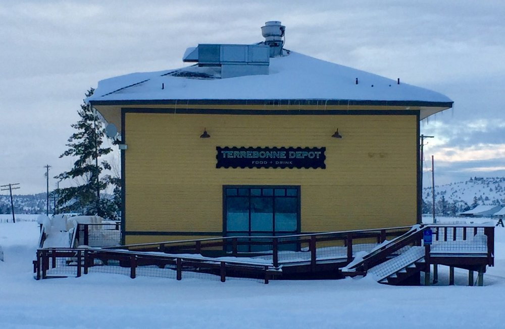The Terrebonne Depot awaits its next incarnation coming this spring.