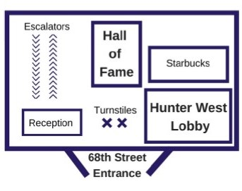 Hunter West 1st floor main area layout