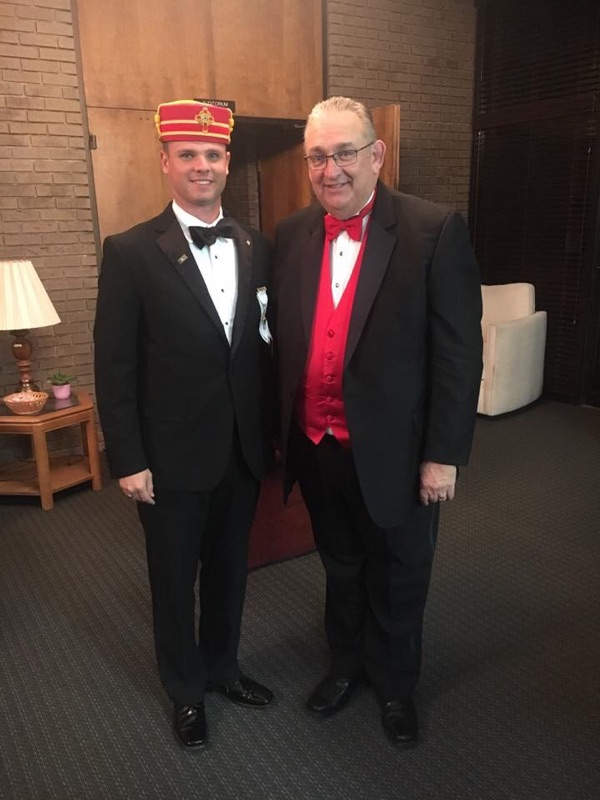 RWB Paul McWilliams with MW and Illustrious Brother Michael D. Smith, Sovereign Grand Inspector General and Grand Master of Ancient Free Masons of South Carolina.