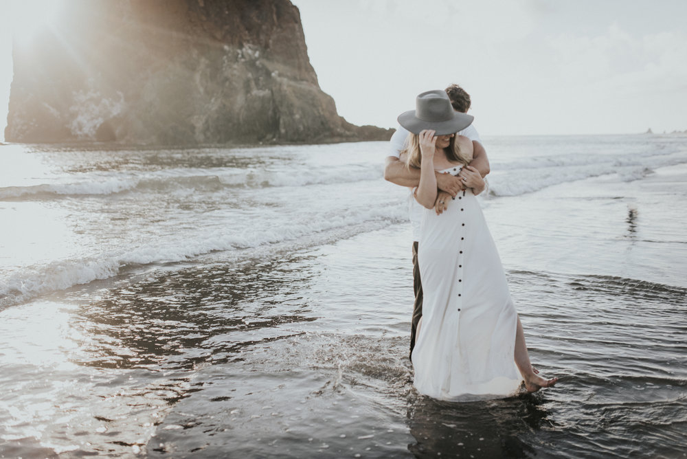 Cannon Beach Haystack Rock Engagement Rustic Moon Photo-135.jpg