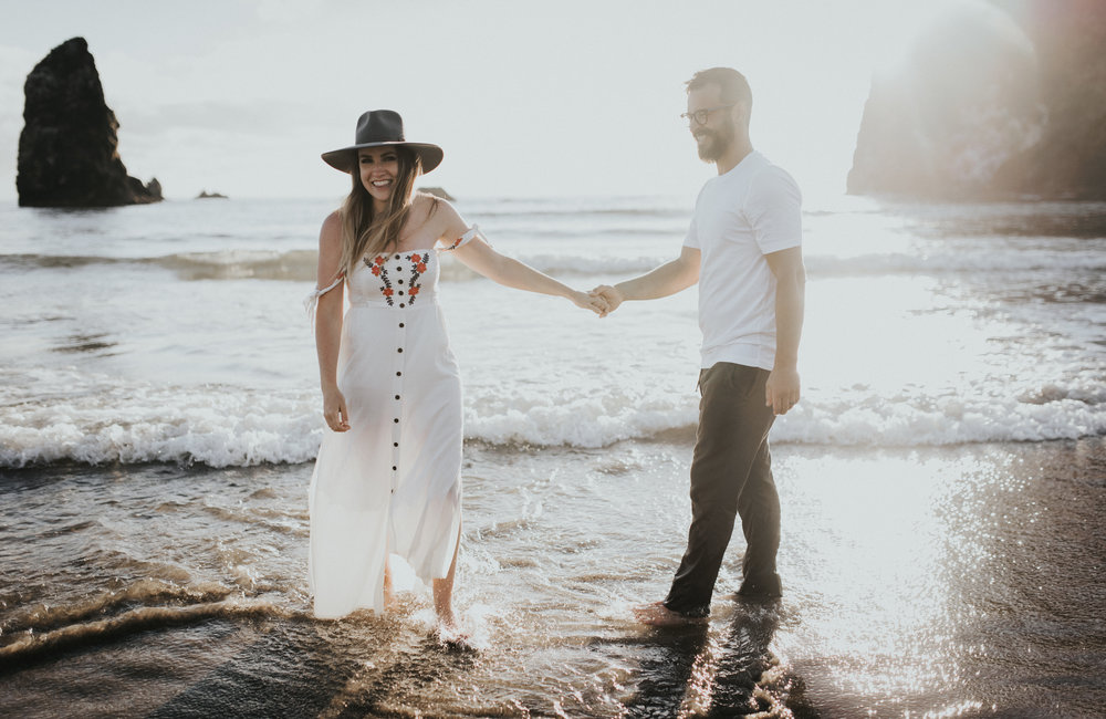 Cannon Beach Haystack Rock Engagement Rustic Moon Photo-139.jpg