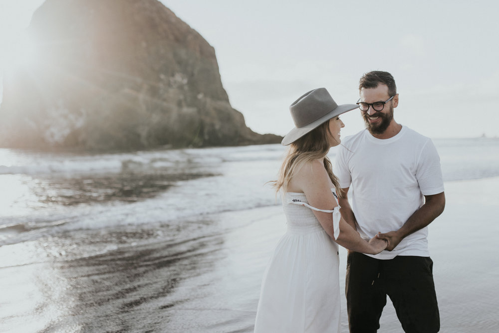 Cannon Beach Haystack Rock Engagement Rustic Moon Photo-146.jpg