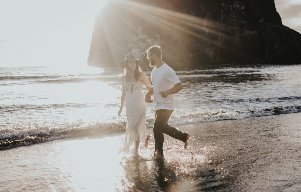 Cannon Beach Haystack Rock Engagement Rustic Moon Photo-162.jpg