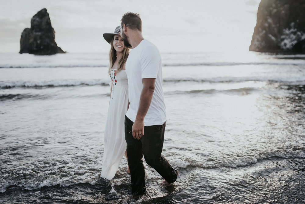 Cannon Beach Haystack Rock Engagement Rustic Moon Photo-165.jpg