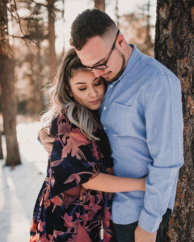 A little preview of this dreamy, wintry engagement session over the weekend. Who says it doesn't snow in Arizona?