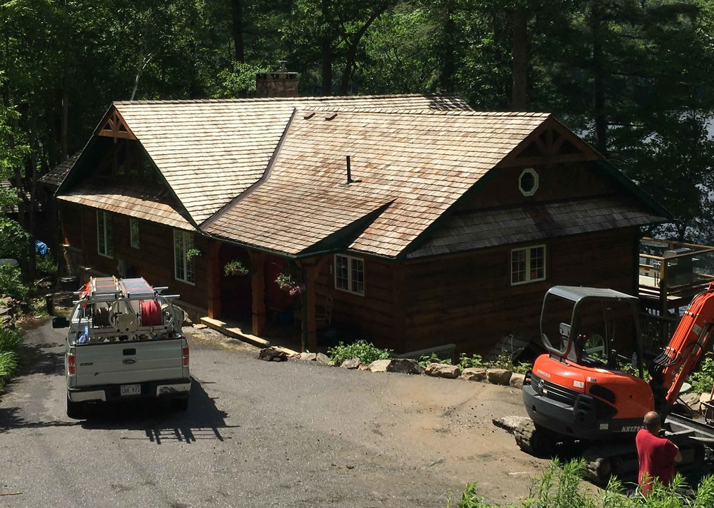 After  Cedar Roof Cleaning & Treatment - Muskoka