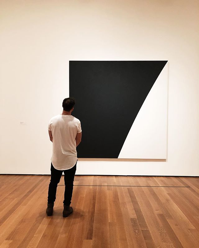 If something as simple as lines can be art, don't you think that something as simple as life can be a masterpiece? #moma
