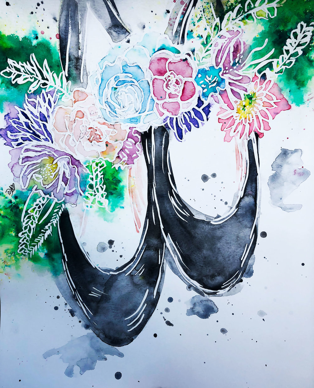 FLORAL SLIPPERS