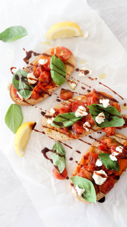 humble wholefoods roasted tomato balsamic bruschetta