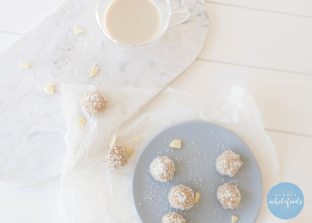 humble wholefoods white chocolate bliss balls paleo bliss balls