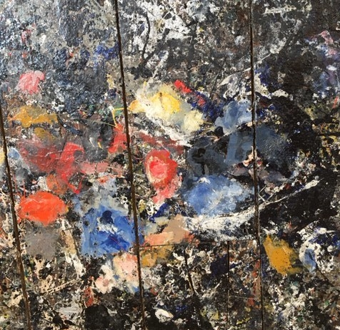 Jackson Pollock's Studio Floor showing remnants of the paint used in Convergence.