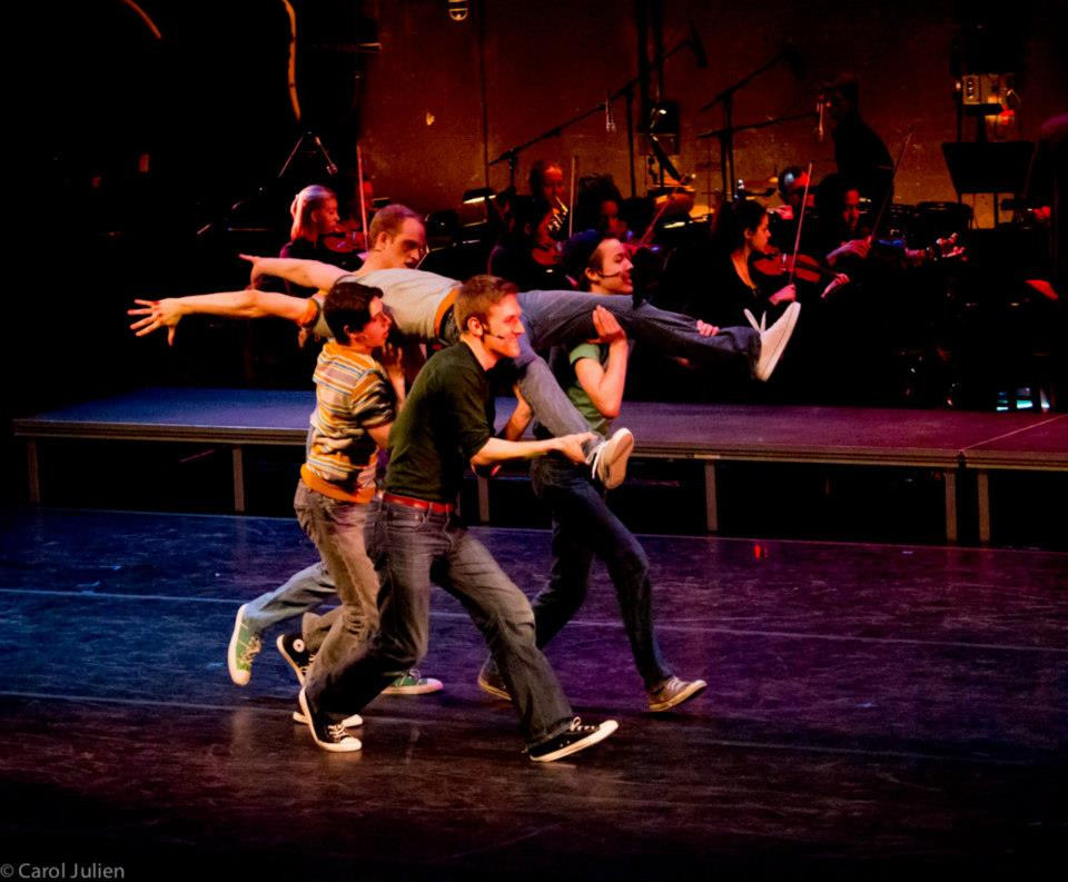 "Max as Action in ""West Side Story"""