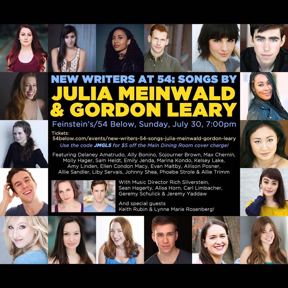 july 30th, 2017 | 54 Below - Sojourner performed songs at 54 Below by musical theatre writing duo Julia Meinwald and Gordon Leary for the 54 Below New Writers Series!