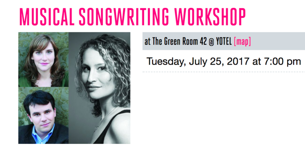 july 27th, 2017 | The Green Room 42 - Sojourner performed in a NYMF songwriting masterclass presentation with special guest artist Brian Lowdermilk! Hosted by Anna K. Jacobs.