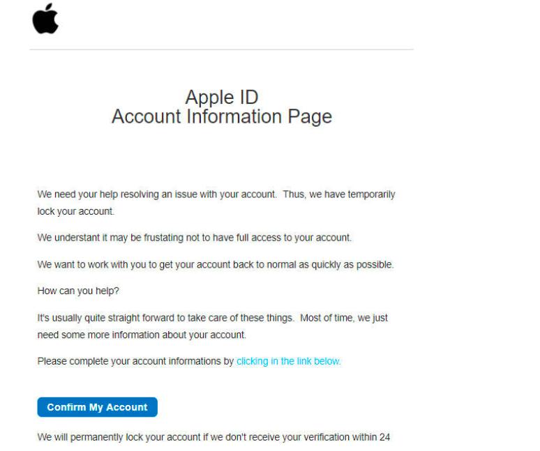 Apple Macintosh Capitol Phishing —